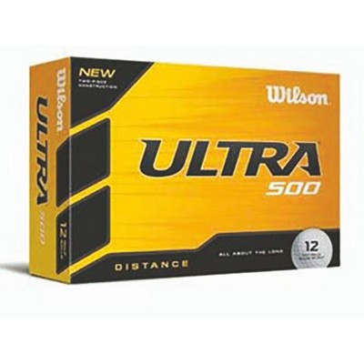 Wilson® Ultra 500 Distance White Golf Balls (In House)
